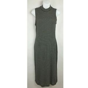 Madewell Black White Striped Sleeveless Dress Sz S